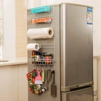 Multipurpose Refrigerator Side Storage Rack For Kitchen Storage Wrap Rack Organizer Sidewall Estante Fridge Multi Layer