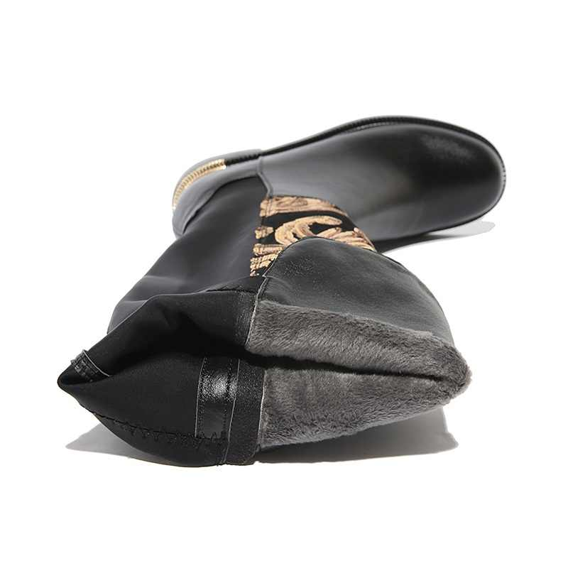 MORAZORA BOYUTU 34-42 SıCAK 2019 hakiki deri çizmeler kadın sonbahar kış çizmeler bling moda streç diz yüksek çizmeler bayan ayakkabıları