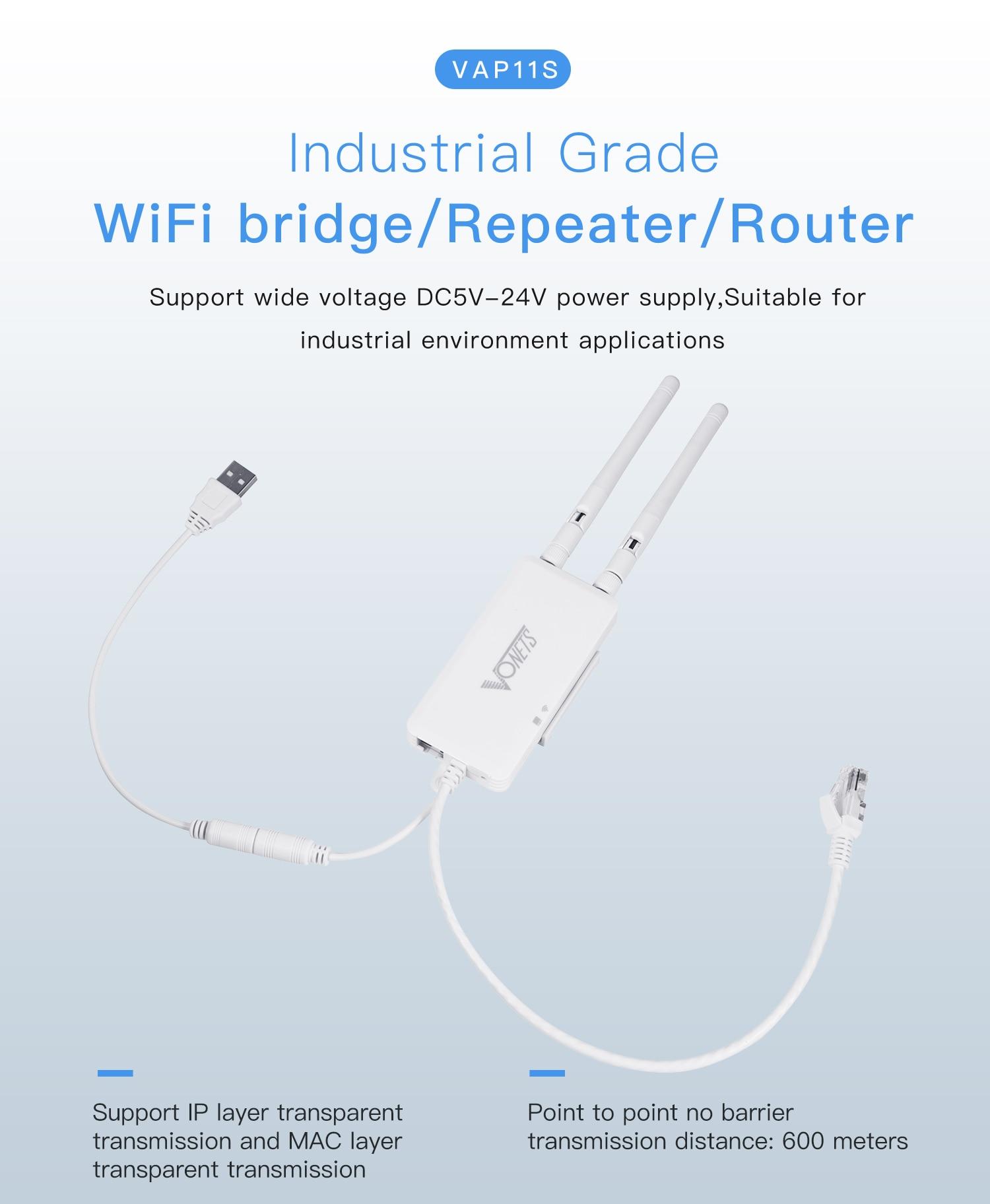 Best Deal] VONETS VAP11S RJ45 mini wireless to wired bridge