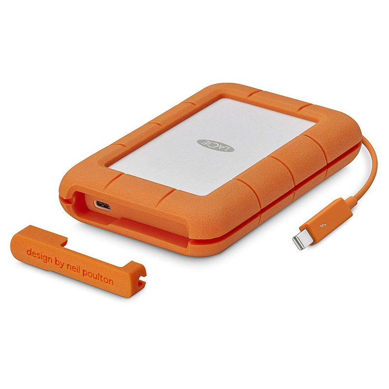 """Seagate Lacie Rugged  2TB 4TB 5TB Thunderbolt & USB 3.1 Type C Portable Hard Drive 2.5"""" External HDD For PC Laptop"""