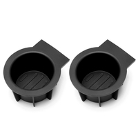 HLST 2017 2X Car Cup Holder Rubber Black For Ford F 150 Expedition Navigator Rear Console