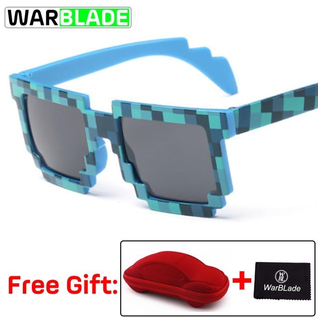 Hot Kids Sunglasses Creeper Glasses Mosaic Sports Goggles Glasses Boys  Girls Pixel Square Eyewares with box fietsbril Cycling Eyewear  - AliExpress