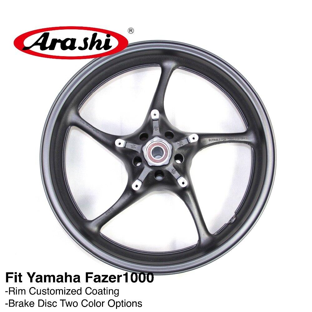 Arashi YZF FZ1 06-09 Front Wheel Rim Rims For YAMAHA YZF-FZ1 FZ1000 Fazer 1000 2006-2009 2007 2008 2009 Matte Black YZF R1 R6