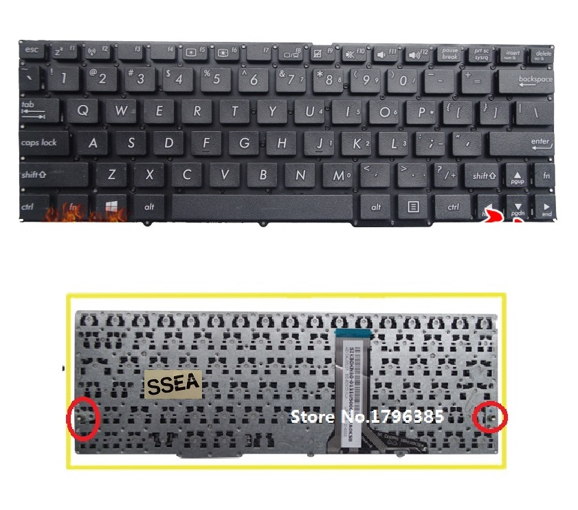 SSEA Brand New laptop US Keyboard For ASUS T100 T100A T100TA T100H Keyboard without frame free shipping