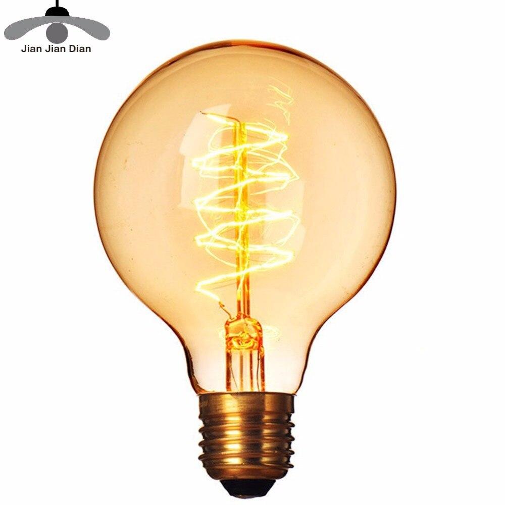 Vintage Edison Filament Bulb E27 Retro Lamp 220V 40W Ampoule Incandescent Light Lampada Antique T45 ST64 T30 G95 T10 Decoration
