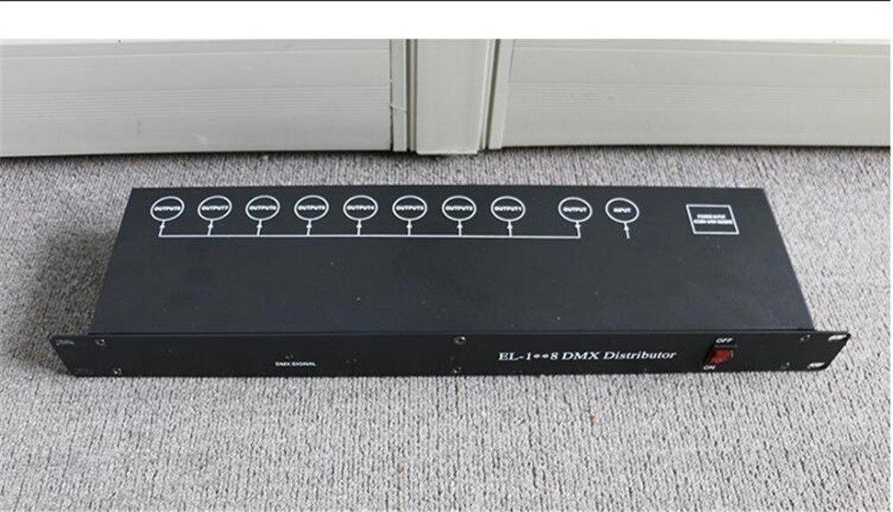 DMX512 distributeur amplificateur 8 voies séparateur lumière de scène dmx dj lumière pour équipement de scène