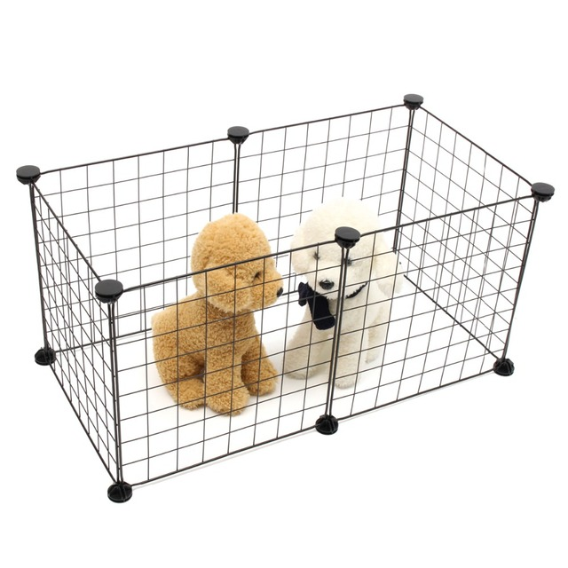 foldable 6 panels pet dogs playpen crate fence puppy kennel house exercise training cage puppy kitten
