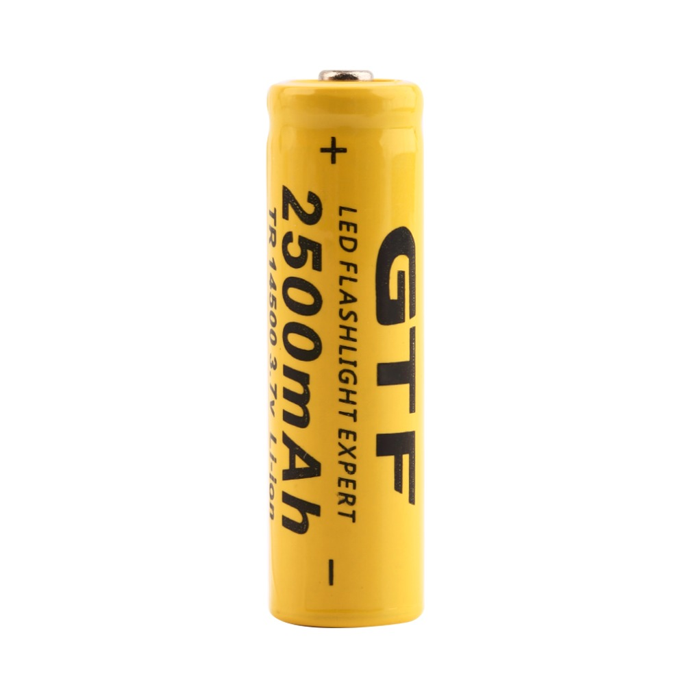 1/2/4PCS GIF TR <font><b>14500</b></font> 3.7V 2500mAh Rechargeable <font><b>Li</b></font>-<font><b>ion</b></font> Battery Universal For LED Flashlight Headlamp Triple Over-heat Protecting image