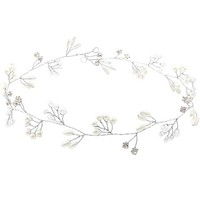 1PC Fashion Elegant Bride Women Silver Color Faux Pearls Rhinestone Head Band Hair Band Bridal Party