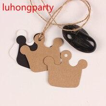5.5cm*6cm homemade crown design Craft paper tags bookmark mood message card DIY scrapbooking accessories 50pcs