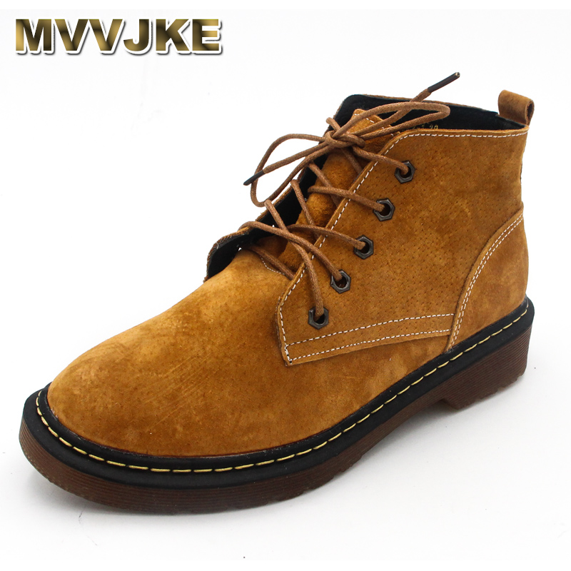 MVVJKE woman lace up shoes genuine leather woman botas quality autumn winter boots cowhide botas feminina European designer A032