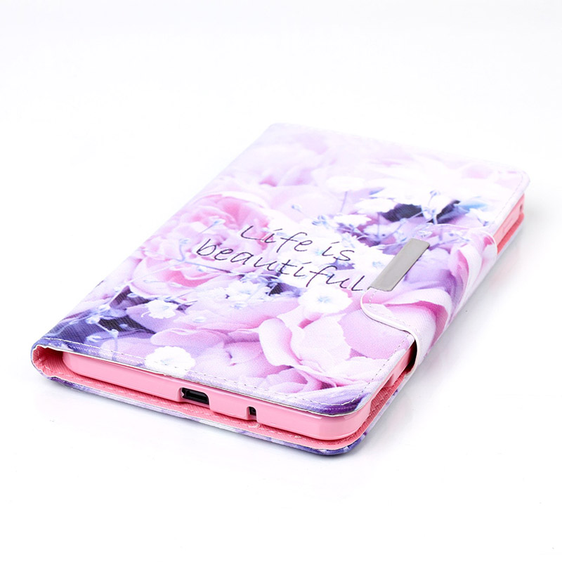 For Samsung GALAXY Tab 4 7.0 T230 Case Cartoon PU Leather Flip Protector Back Cover For Samsung Galaxy Tab 4 Nook 7 DP00E