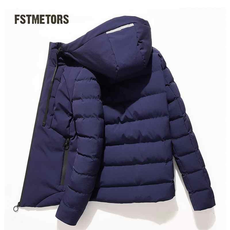 Зима 2018 Мужская куртка, чистый цвет для отдыха на открытом воздухе, стеганая хлопковая Утепленная Мужская лыжная одежда, хлопковая стеганая одежда