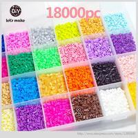 Let's Make 5mm Perler Beads 28 Colors 18000pcs Box Set 3 Template+5 Iron Papers+2 Tweezers Fuse Hama Bead Diy Educational Beads