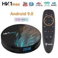 Android 9,0 ТВ Box 4 Гб Оперативная память Rockchip RK3328 1080 p 4 K USB3.0 Google Play Store Youtube Netflix Декодер каналов кабельного телевидения HK1 Max умный ТВ коробка