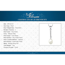 925 Sterling Silver Freshwater Cultured 5-7mm White Pearl Pendant for Women Not Include the Chain