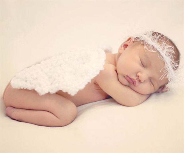 Recién Nacido fotografía apoyos lindo pequeñas alas de ángel puro tejido de  lana hecho a mano boutique en Sombreros y Gorras de Mamá y bebé en ...