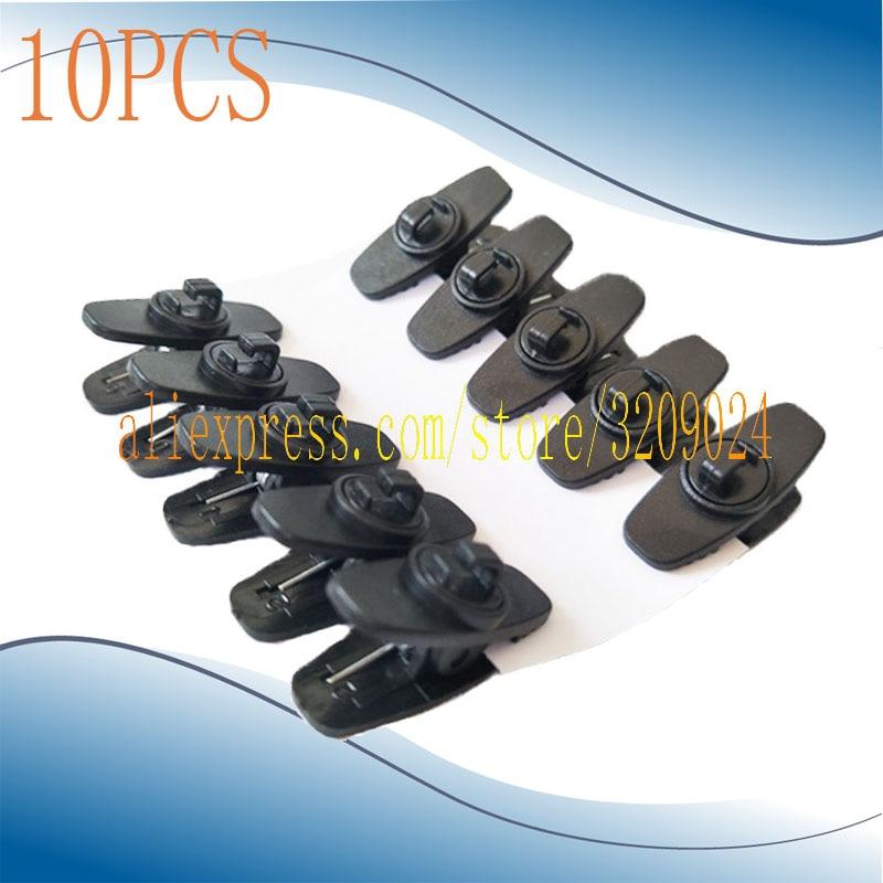 10PCS Black Clip Tie Clips For Sennheise ME4 Lavalier Lavel Microphones Mic And CX Series Earphone