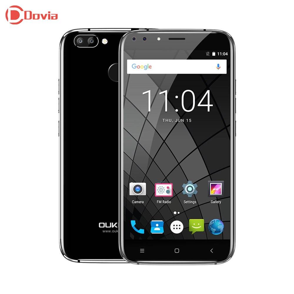 Four Cameras Oukitel U22 5.5 inch Android 7.0 MTK6580A Quad Core 2GB RAM 16GB ROM Fingerprint Sensor 2700mAh Mobile Phone