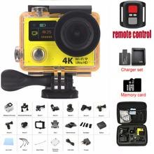 """H3/H3R câmera Esporte Ultra HD 4 K 1080 P 2 polegada 170D Wide Angle de 2 """"Tela dupla Com Câmaras De Vídeo De Ação De Controle Remoto"""