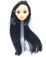 NK One Pcs Fashion Doll Head Black Hair DIY Accessories For Barbie Kurhn Doll Best Girl' Gift Child' DIY Toys 024A
