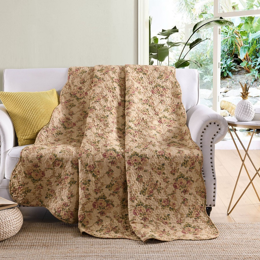 Chausub 100 Cotton Bedspread Quilt 1 Piece Coverlet Twin Size