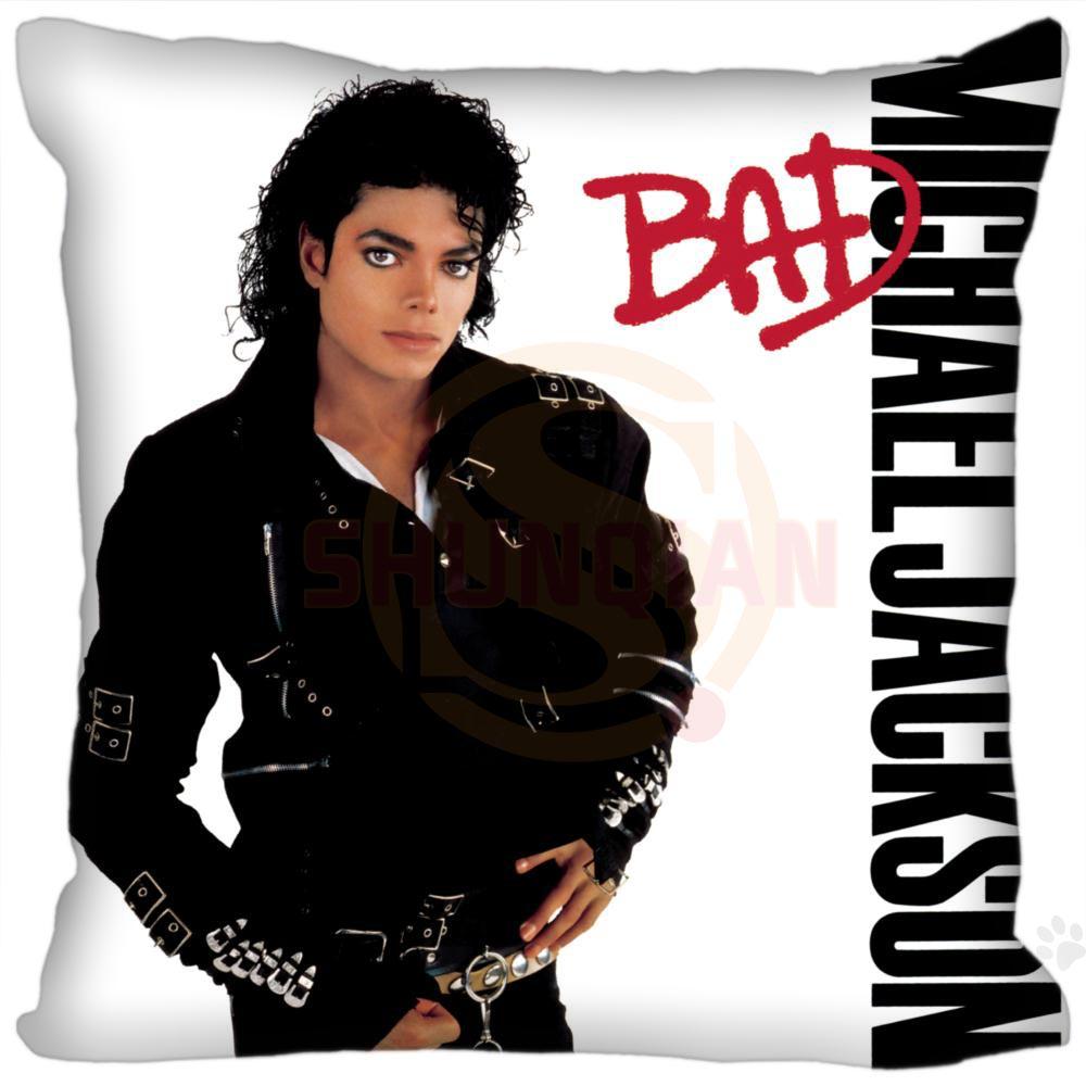 Hot Custom Michael Jackson Square Pillowcase Custom Zippered Bedroom Home Pillow Cover Case DIY Gift For You