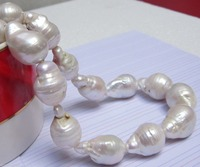 huge 1816 23MM south sea genuine white baroque nuclear loose pearl