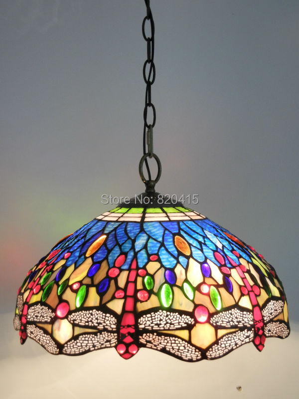 Name The Tiffany Blue Dragonflies Use A Lot Of Watermark Gl Chandelier Lamp Light Transmission Is Very Good Great Lighting Effects