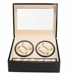 Jewelry-Winder-Box Watch-Display Winders Storage-Box Mechanical-Watch Automatic Black