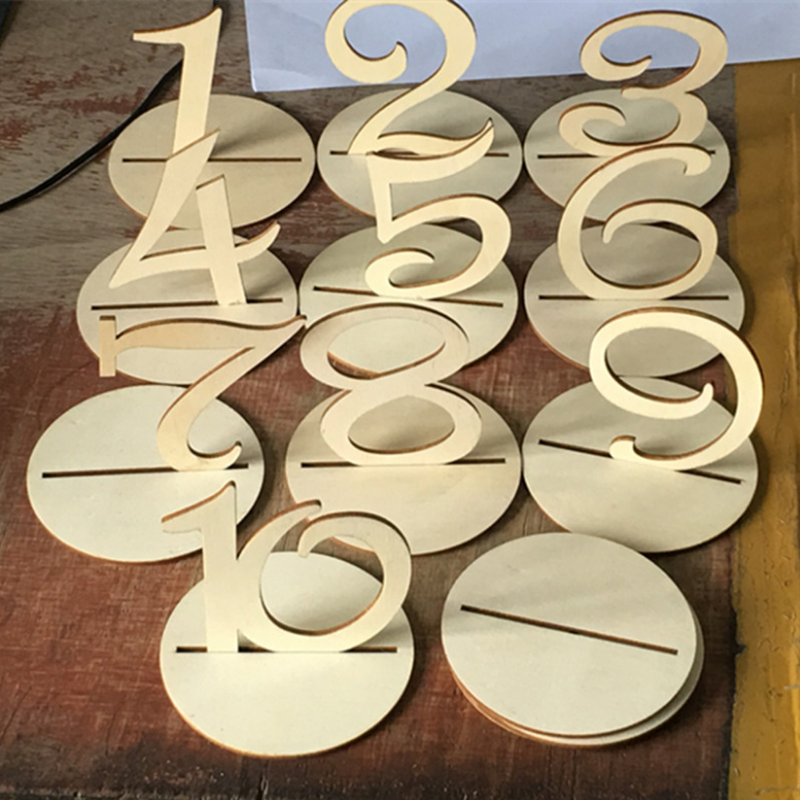 10 pcs hot sale Wooden Wedding Table Numbers Signs With Base Holder Vintage Home Birthday Party Banquet Anniversary Decoration