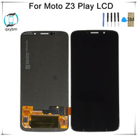 NEW Black 6.0 LCD For Motorola For Moto Z3 Play XT1929 XT 1929 LCD Display Touch Screen Digitizer Assembly with free 3M Sticker