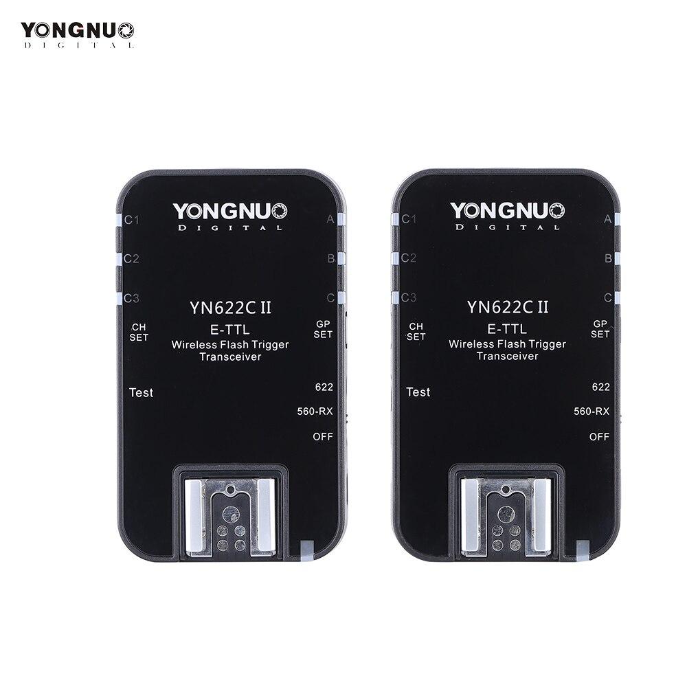 YONGNUO YN622C II 2.4G sans fil E TTL Flash déclencheur récepteur émetteur récepteur pour Canon EOS 5D Mark II 7D 70D 60D 50D 40D-in Déclencheur from Electronique    1