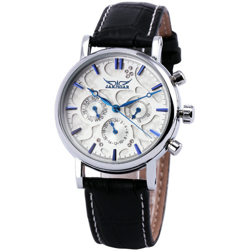 Fashion Jargar Brand Automatic Mechanical Business Watch Mens Calendar Dress Wristwatches Men Casual Genuine Leather Band ColcksFashion Jargar Brand Automatic Mechanical Business Watch Mens Calendar Dress Wristwatches Men Casual Genuine Leather Band Colcks