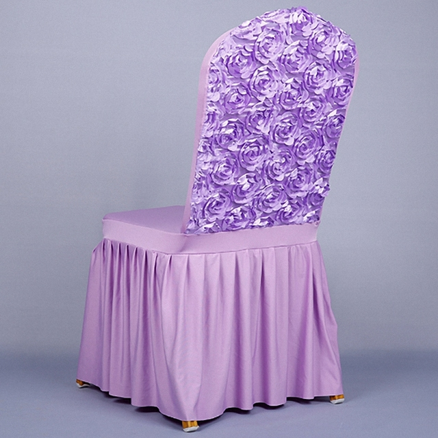 Peachy Us 13 96 10 Off Dreamy Romantic Wedding Party Decoration Violet 3D Petals Flowers Rose Chair Covers White Sleeve Birthday Matrimonio Red Yellow In Theyellowbook Wood Chair Design Ideas Theyellowbookinfo