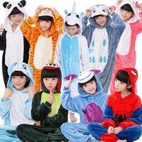 Children Onesie Cosplay Kids Boys Girls Pajamas Christmas Totoro Unicorn Panda Cat Giraffe Pyjama Animal Baby