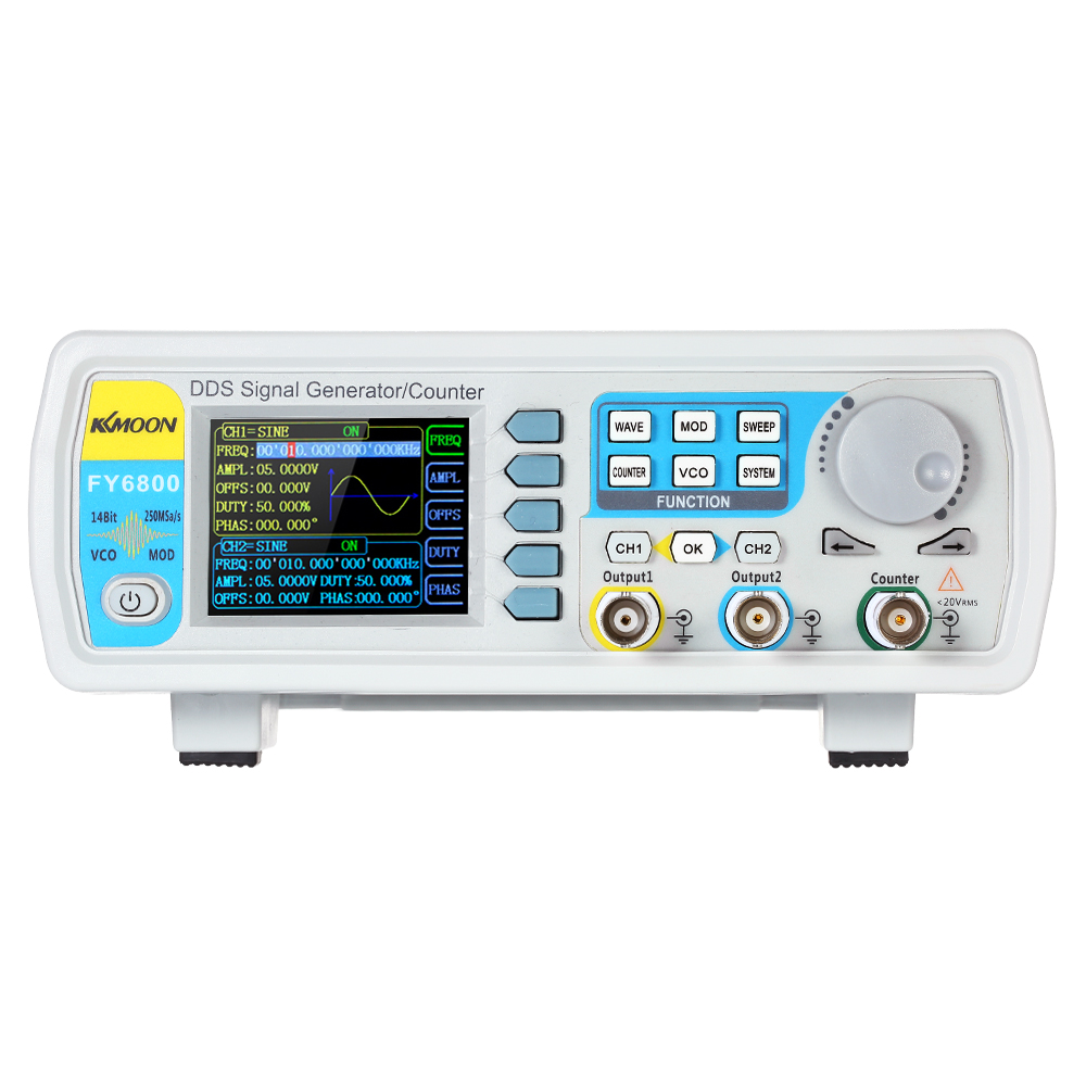 30MHz DDS Dual-channel Function Signal Waveform Generator 250MSa/s Frequency Meter VCO Burst AM/PM/FM/ASK/FSK/PSK Modulation цена