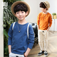 2017 new children clothing kids t shirts baby clothes boys spring autumn fashion character style long sleeve t shirts 6-14 Years