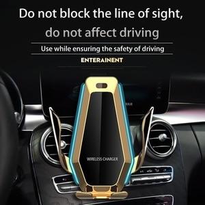 Image 3 - Tongdaytech 10 واط سيارة سريع تشى شاحن لاسلكي آيفون X 8 XS 11 برو ماكس سيارة الهاتف تنفيس الهواء حامل لسامسونج S10 S9 S8 زائد
