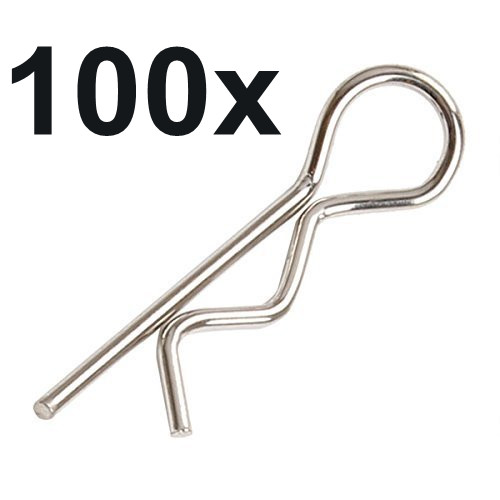 100pcs Universal 1/5th Scale Large Body Clips RC Car Parts Truck Replacement For R Pins HPI Baja Losi 5ive Ofna Redcat HSP Baja rovan gas baja 30 5cc 4 bolt chrome engine with walbro carb and ngk spark plug for 1 5 scale hpi km losi rc car parts