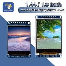 Placa de módulo de pantalla LCD TFT IPS a todo Color, 3,3 V, 1,44, 1,8 pulgadas, serie 128x128, 128x160, 65K SPI, reemplazo de placa OLED ST7735