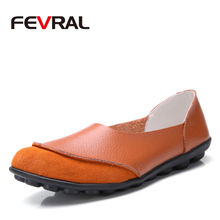 FEVRAL 2020 New Arrival Shoes Woman Split Leather Woman Flats