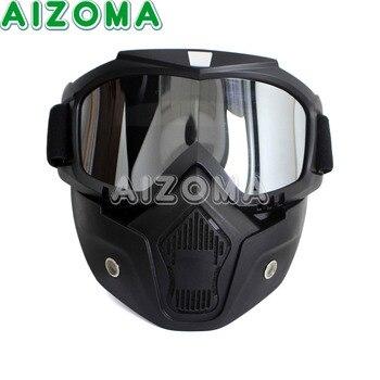 84190245d6 Ciclismo motocicleta bicicleta de carreras al aire libre desmontable gafas  máscara negro Universal a prueba de viento esquí polvo ajustable gafas
