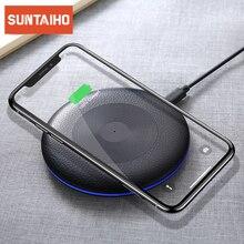 Suntaiho Qi Draadloze Oplader Voor Iphone X Xr Xs Max 10W Snelle Draadloze Opladen Voor Samsung S10 S9 Voor xiaomi Mi9 Usb Lader Pad