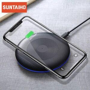 Image 1 - Suntaiho Qi Draadloze Oplader Voor Iphone X Xr Xs Max 10W Snelle Draadloze Opladen Voor Samsung S10 S9 Voor xiaomi Mi9 Usb Lader Pad