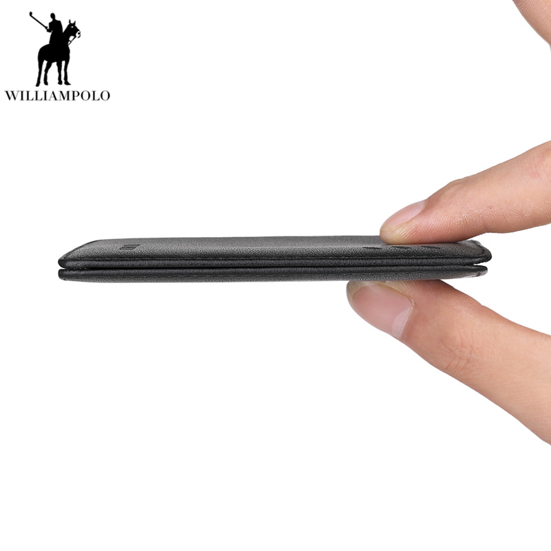 WILLIAMPOLO Men Wallet Genuine Leather Card Holder Short Wallet Luxury Man Purse Brand Card Case Casual Standard Wallets PL250 lafeebaoluo men wallets men leather genuine wallet purse luxury brand men s famous design black short card holder portfolio man page 1