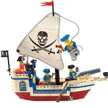 188Pcs Pirates Of Caribbean Bricks Bounty Pirate Ship City Building Blocks Sets Toys for Children недорго, оригинальная цена