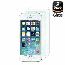 2 حزمة حامي الشاشة آيفون 5 5s الزجاج المقسى آيفون 5 6 7 8X11 2.5D 0.26 مللي متر الزجاج واقية على آيفون 5se 4