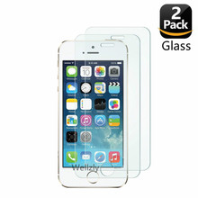 2 パック Iphone 5 5s 強化ガラス iphone 5 6 7 8 × 10 2.5D 0.26 ミリメートル保護ガラス Iphone 5 5se 4