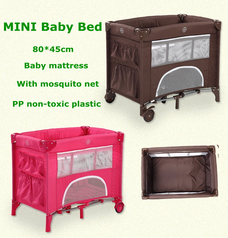 2016 Baby Bed Folding Overthrow Prevention Crib Portable Storage Bag With A Mini Compact Coffee Rose In Cribs From Mother Kids On Aliexpress